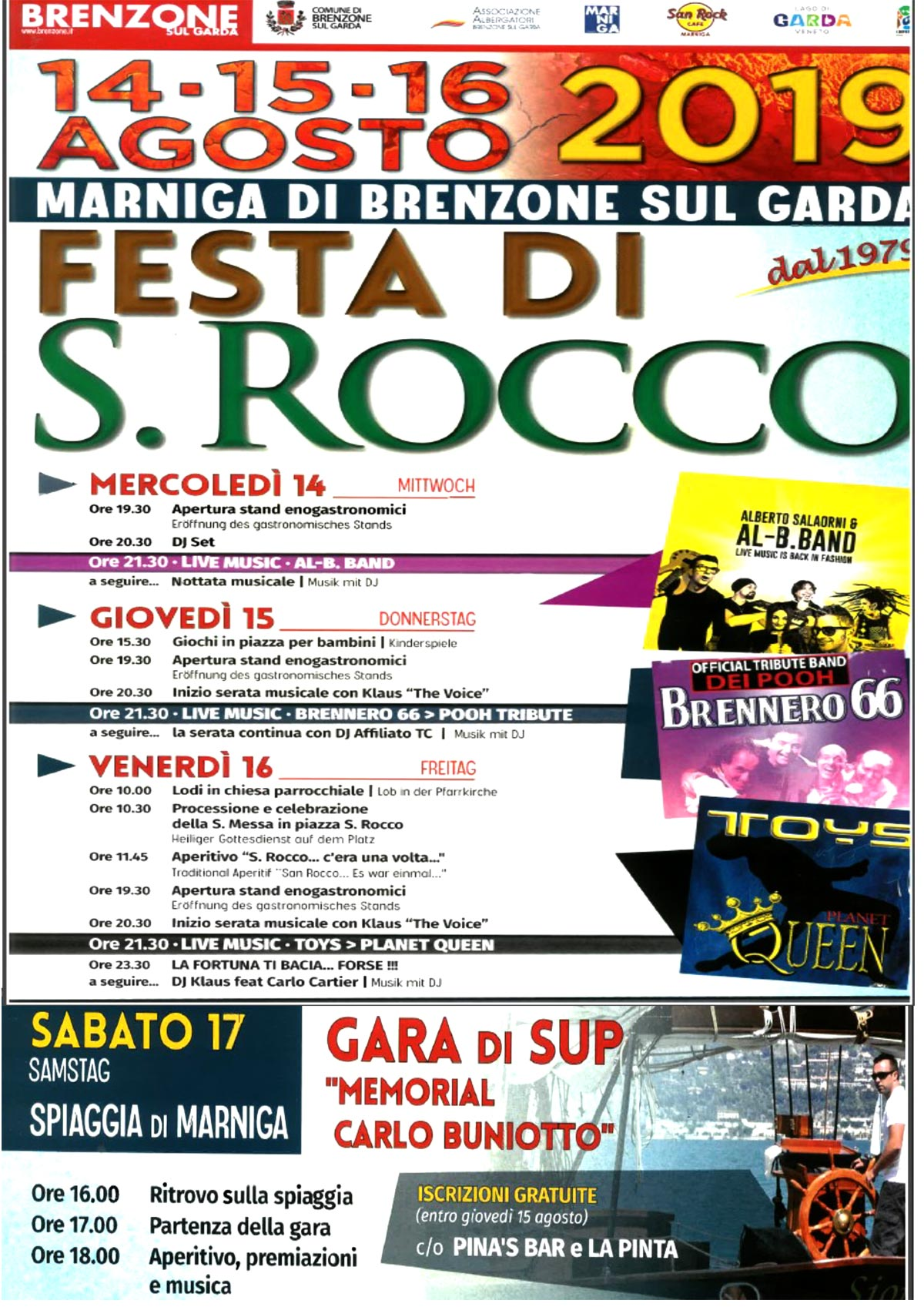 San Rocco - Historical Festival of Marniga di Brenzone from 14 to 16 August