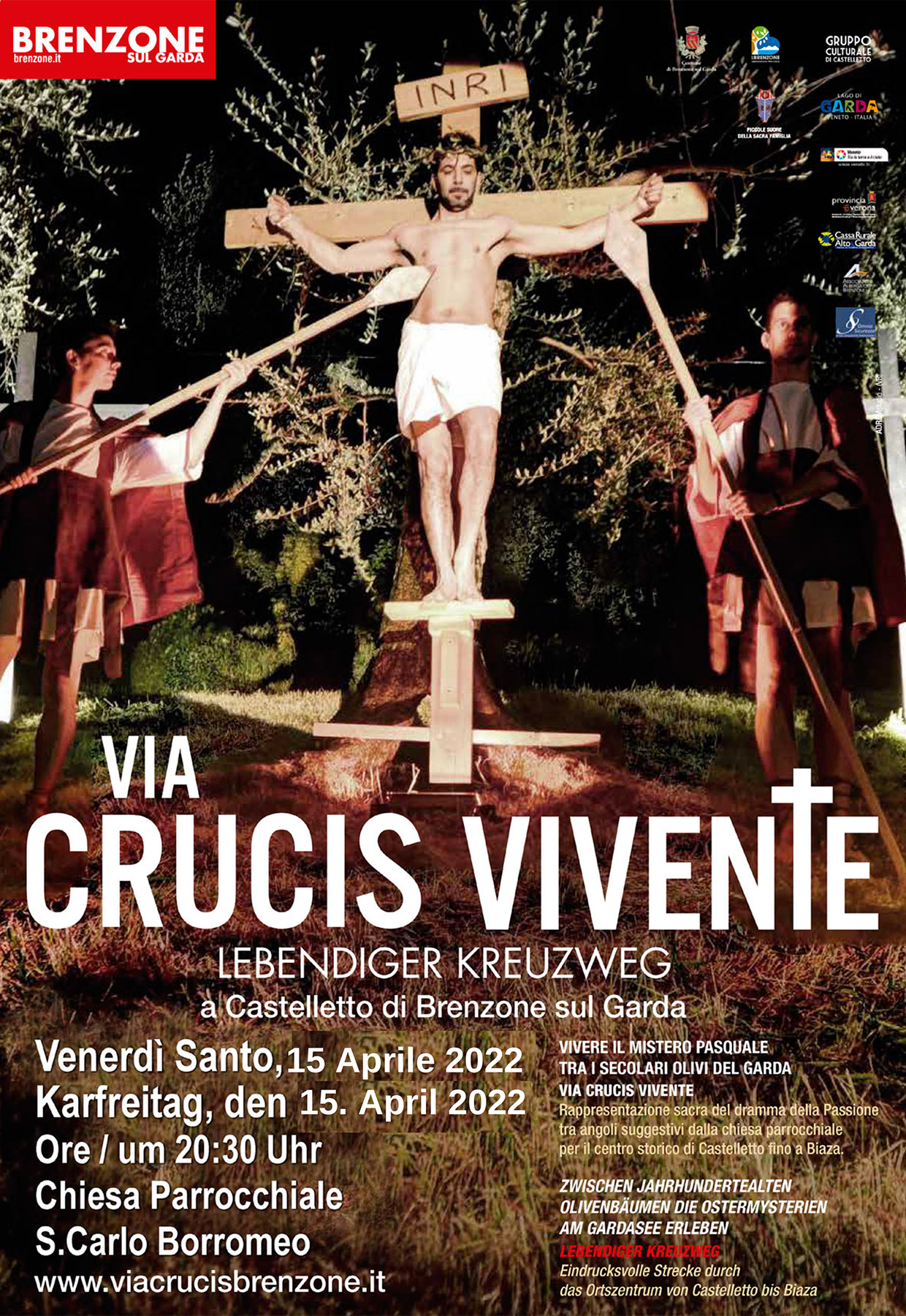 Via Crucis vivente del Venerdì Santo - Lebendige Darstellung der Via Crucis am Karfreitag - Good Friday Via Crucis